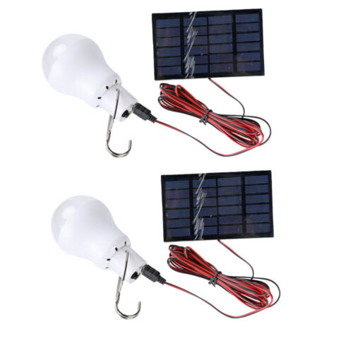15W Portable Solar Panel LED Bulb Light In/Outdoor Emergency Camping Tent Lamp