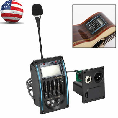5 Band Acoustic Electric Guitar Preamp EQ Equalizer Pickup Tuner Instrument Tool