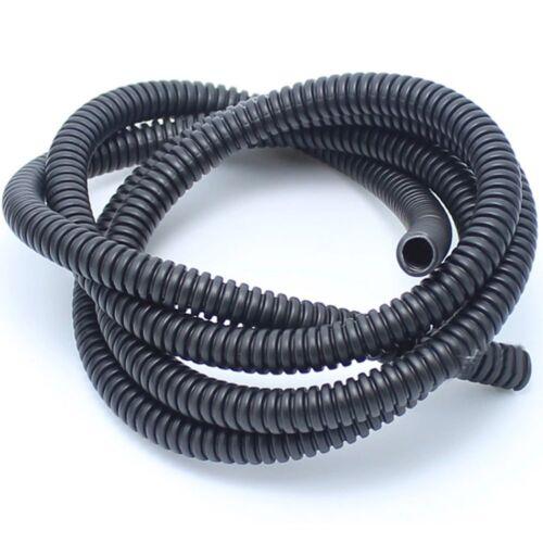 1x Universal 20M Black Split Loom Wire Flexible Tubing Conduit Hose Connectors