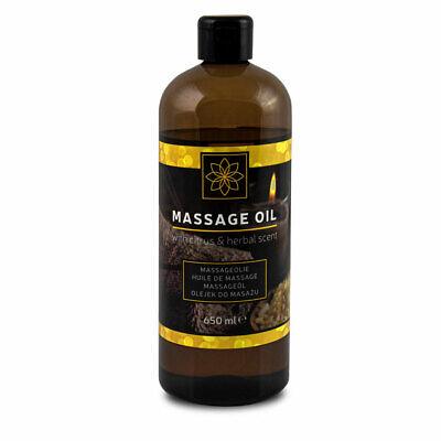 Deluxe Öl (DELUXE Massage-Öl (650 ml) mit dem Duft von Zitrusfrüchten und Kräutern)