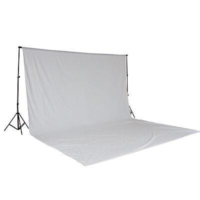 Teleskop Fotostudio Komplettset Hintergrundsystem inkl. Hintergrund 6x3 m weiß