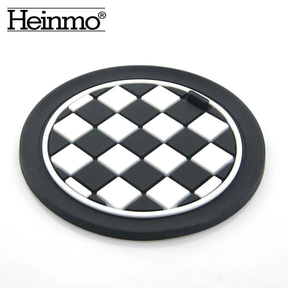 7.7cm Heinmo For mini cooper clubman countryman F//R series universal Car Cup Coaster Mats car-styling