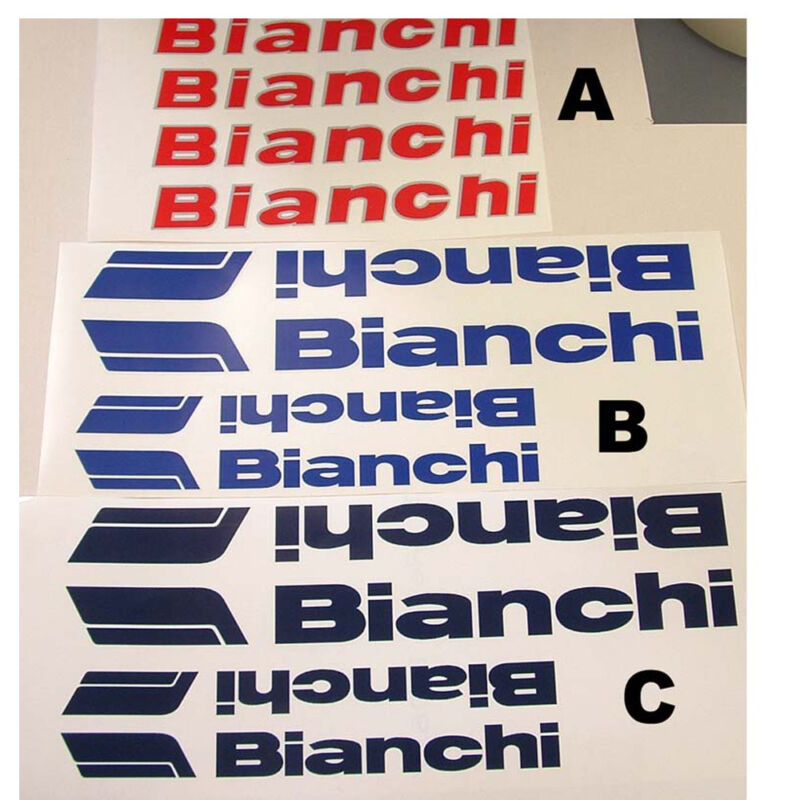 18 options on your choice Bianchi tube decals stickers
