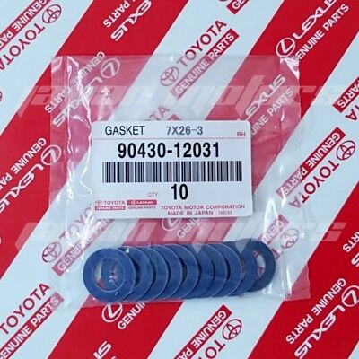 Scion Oil Drain Plug Gasket - SET of 10 GENUINE TOYOTA LEXUS OIL DRAIN PLUG WASHER GASKET 90430-12031
