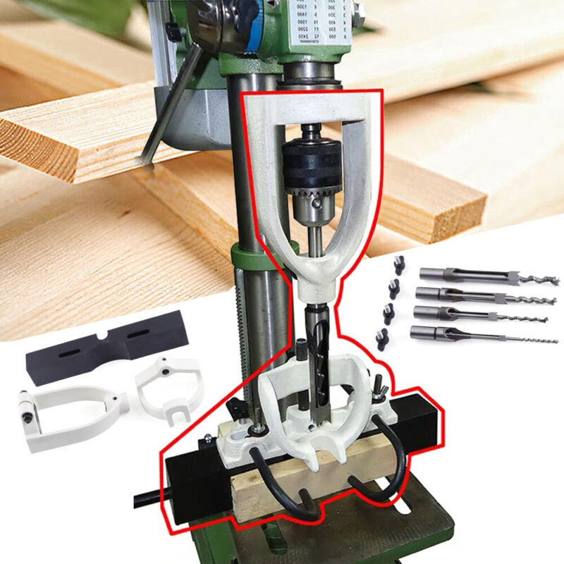 Steel Woodworking Drilling Tenon Joint Mortise Mortising Attachment Chisel Bit