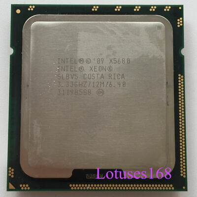 Intel Xeon X5680 3.33GHz Six Core 12M 6.4 GT/s QPI SLBV5 Processor LGA1366 CPU