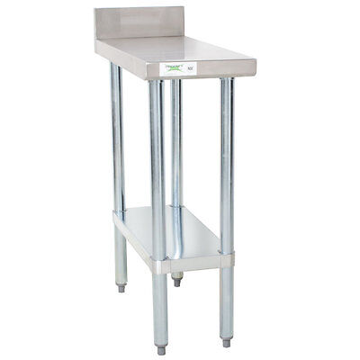 30 X 12 Stainless Steel Equipment Filler Table With Backsplash 600tb3012g