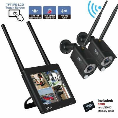 """Tonton 1080P Portable LCD Security Camera System Wireless 4CH NVR 7"""" Monitor 32G"""
