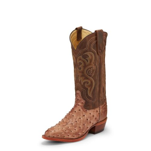 Tony, Lama, Mens, Chocolate, Full, Quill, Ostrich, Cowboy, Boot, Medium, Round, Toe, -, 8965