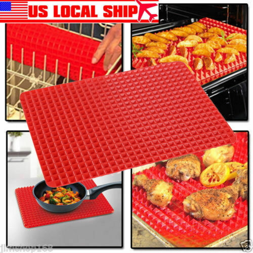Pyramid Pan Fat Reducing Non Stick Silicone Cooking Mat Oven