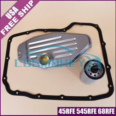 45RFE 545RFE 68RFE Transmission Filter Kit 4WD W/ Pan Gasket 1999-UP Ram Durango