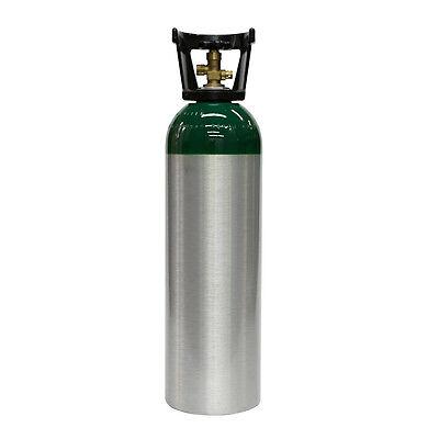 New 60 Cu Ft Aluminum Oxygen Tank Oxygen-acetylene Welding Cga540 Free Shipping