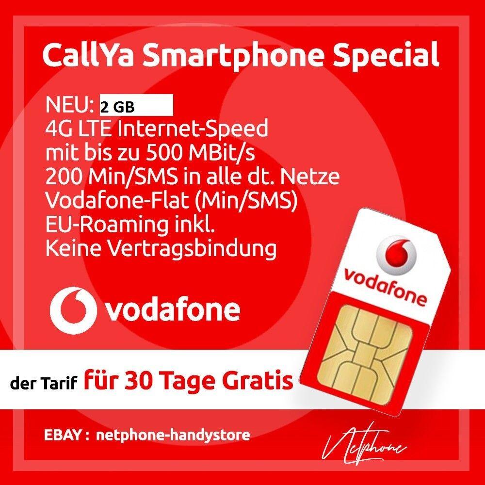 Sim Karte Nicht Zulässig.Details Zu Vodafone Smartphone Special Callya Prepaid Sim Karte Lte 4g 10 Euro Startguth
