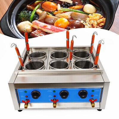 Commercial Pasta Cooker Noodles Marker Electric Cooking Machine 6 Holes Basket