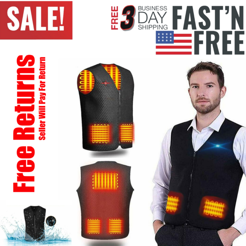 High Quality Electric Heated Vest Heating Jacket Body Warm G