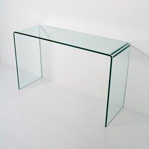Group design consolle smalle vetro trasparente sagomata for Consolle group design
