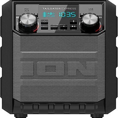 Ion IPA70 Tailgater Express Water Resistant Portable Wireless Bluetooth Speaker