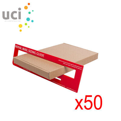 50 x Brown PIP Cardboard Large Letter Postal Box for Royal Mail C5