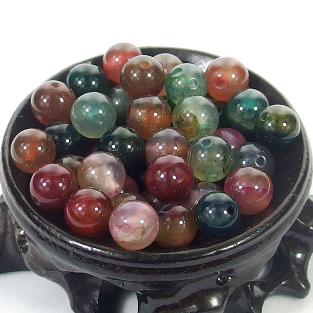 Bulk Gemstones I natural spacer stone beads 4mm 6mm 8mm 10mm 12mm jewelry design multi color agate
