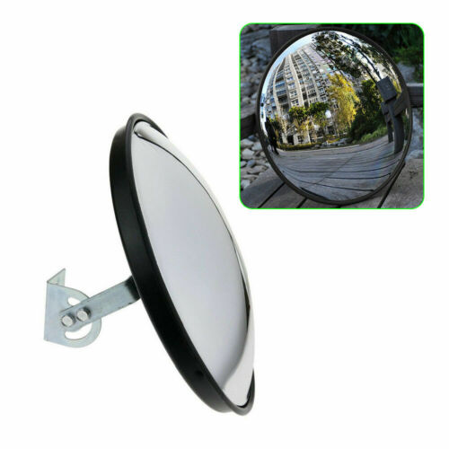 "12"" Traffic Convex Mirror Driveway Road Street Corners Garages Outdoor Safety"