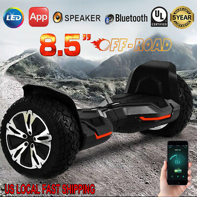 """8.5"""" Wheels Off Road Bluetooth Electric Self Balancing Scooter Hoverboard UL2272"""