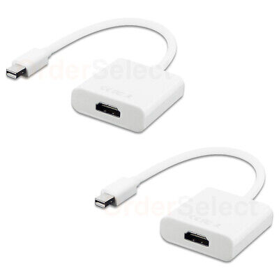 2 Mini Display Port DP to HDMI Female Adapter Cable For MacBook Pro Air iMac Mac