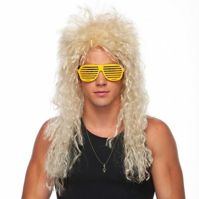 High Quality Heavy Metal Wig 80s Hair Bands Blonde Curly Adult Costume Rock Star - 80s Hair Metal Halloween Costumes