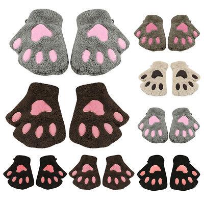 Fashion Girl Cat Claw Paw Fingerless Winter Warmer Half Finger Gloves Mitten - Cat Paw Gloves