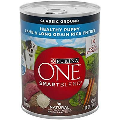 "Purina ONE Canned SmartBlend Healthy Puppy Natural Classic Ground Pate Lamb "" -"