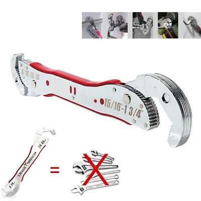 "Up to 1 ¾"" Multi-function wrench Universal Adjustable auto-ratcheting pipe 1 Multi Function Wrench"