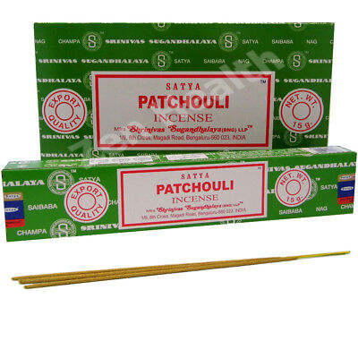 12 x PATCHOULI INCENSE / FRAGRANCE STICK PACKS CALMING AND RELAXING SCENT
