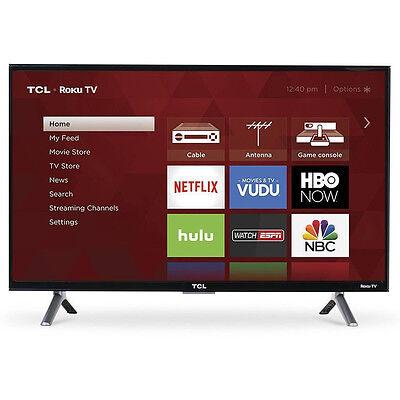 "TCL 55"" 4K Ultra HD 120Hz HDR Roku Smart TV 2017 Model with 3 x HDMI | 55S405"
