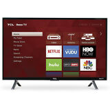 "TCL 55"" 4K Ultra HD 120Hz HDR Roku Smart TV 2017 Model with 3 x HDMI 