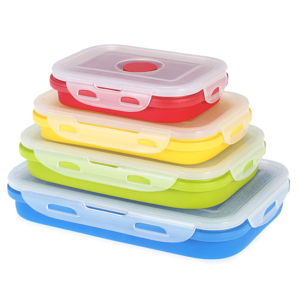 kITCHENY Silicone Collapsible Non Stick Food Storage Lunch B