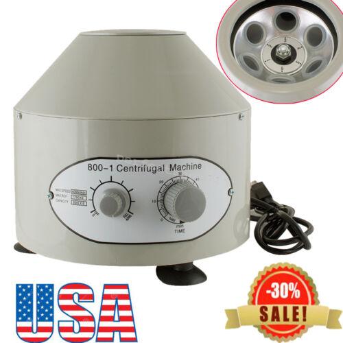 FDA/CE Electric Centrifuge Machine Lab Medical Practice 110V 4000rpm 20ml x6 USA