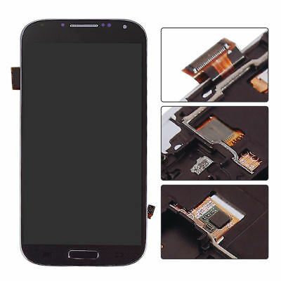 USA For Blue Samsung I9500 Galaxy S4 LCD Touch Screen Digitizer Assembly Frame for sale  USA
