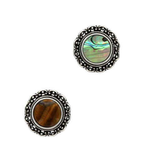 "Western Saddle Horse Tack Concho Stone Conchos Size 1-1/8"" (screw back)"