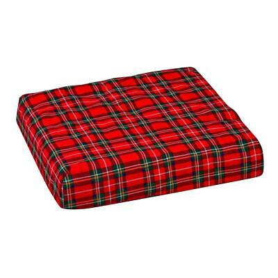 Convoluted Foam Seat Cushion (convoluted foam chair pad with seat and plaid cover | cushion wheelchair)