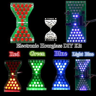 DIY Kit LED Electronic Hourglass Funny Electric RGB LED Kits PCB Board A Lot](Hourglass Kit)