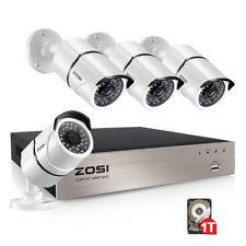 ZOSI HD 1080P POE CCTV Camera System 4CH POE NVR 1TB HDD 4X2MP Outdoor IP Camera