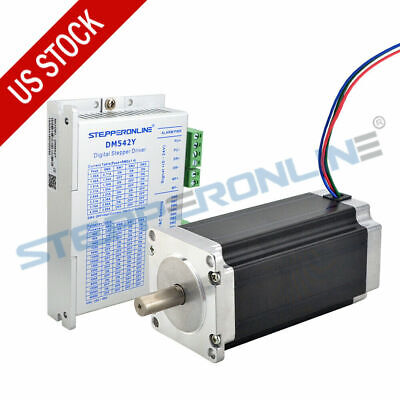 1 Axis Nema 23 Stepper Motor 3nm425oz.in 4.2a Driver Cnc Mill Robot Lathe