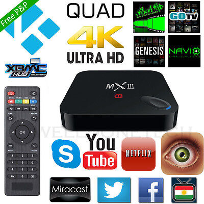 MX3 4K UHD S812 XBMC 1080P Quad Core Android 4.4 Smart TV BOX Media Player