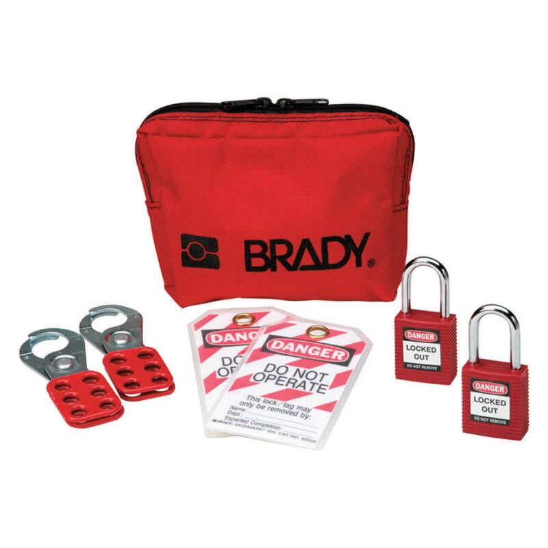 BRADY 105969 Portable Lockout Kit,Electrical,8