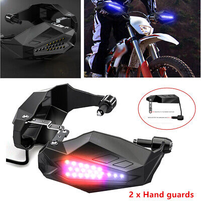 Tiger Lighting Supplies (12v Motorcycle Hand Guards Rainproof Board W/ Lights Cool Windshield Hand)