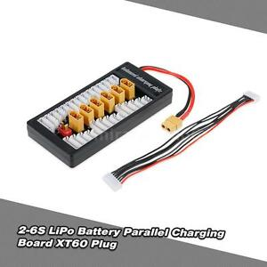 2-6S LiPo Battery Parallel Charging Adapter Board XT60 Plug Balance Plate