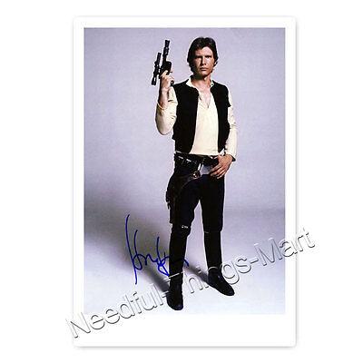 Harrison Ford alias Han Solo aus Krieg der Sterne - Autogrammfoto laminiert 