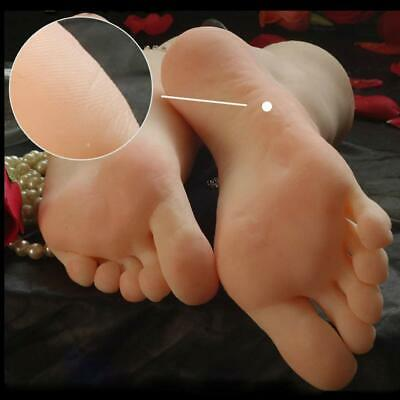 1 Pair Silicone Lifesize Female Mannequin Foot Fetish Display Jewerly Sandal Hot