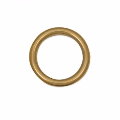 Cast Ring 1 inch (25.4 mm) Solid Brass (1179-02) White Bear Leather