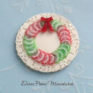 Christmas-Candied-Fruit-Ring-Wreath-Dollhouse-Miniature-Food-Candy-Sweets