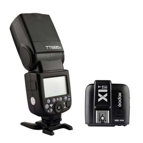 Godox TT685S TTL HSS Blitz Aufsteckblitz + X1T-S Auslöser für Sony Kamera